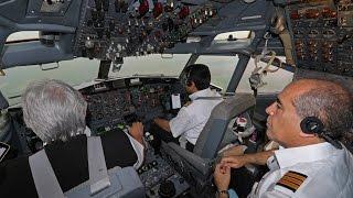 Boeing 727 complete cockpit landing footage (Iran Aseman Airlines)