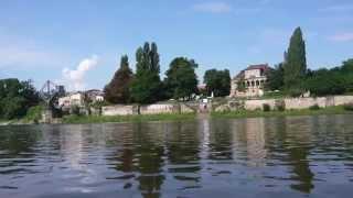 preview picture of video 'Paddeltour auf der Elbe von Dresden nach Meißen'