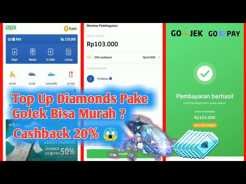 Trik Cara Top Up Diamond Super Murah Menggunakan Aplikasi Gojek / GoPay Free Fire Dan Mobile Legends