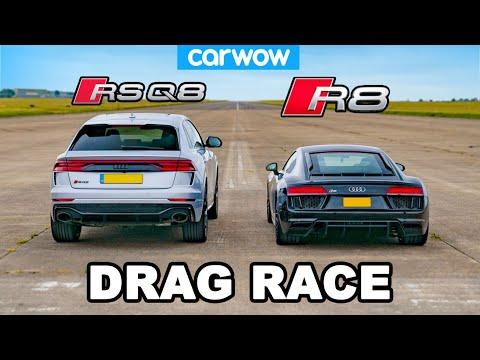 Audi R8 vs RSQ8: DRAG RACE!