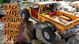 Backyard rock crawler course | cross Demon SP4 |fpv