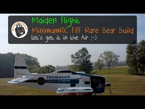 Maiden Flight - MinimumRC F8F Rare Bear Pro from Banggood