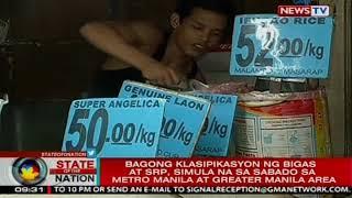 Bagong klasipikasyon ng bigas at srp, simula na sa Sabado sa Metro Manila at Greater Manila Area