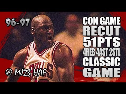 Michael Jordan Highlights vs Knicks (1997.01.21) - 51pts, CON GAME in 1080p!