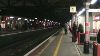 Sir Nigel Gresley  Whistles Through Grantham 27 Nov08