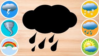 What is the Weather? ❤️ Sunny, Rain, Rainbow, Snow, Tornado, Thunder, Lightning ❤️ Seasons for Kids