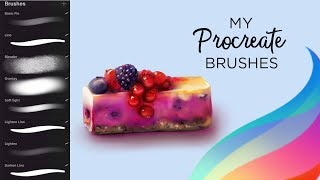 My PROCREATE Brushes & How to use them