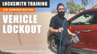 Automotive Lockout | How To Open a Locked Car Door Without a Key | Free-Locksmith-Training.com