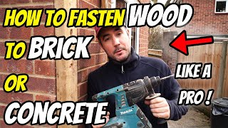 How To install a Fence Post to a Wall | Concrete Or Brick
