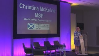 Christina McKelvie MSP promotes the EngAGE conference