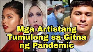 Mga Artistang Tumulong sa Gitna ng Pandemic | Sarah G, Maine Mendoza, Vice Ganda, Anne Curtis Atbp.