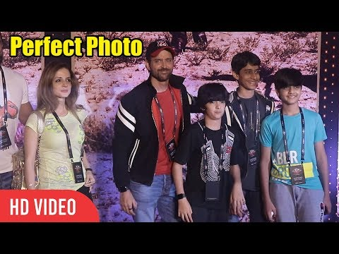 Hrithik Roshan CUTE Moment With Wife And Kids at U2 India Show | Viralbollywood