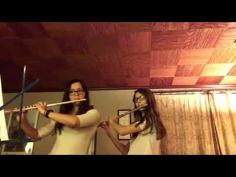 Myself and my student (and sister) performing It Came Upon a Midnight Clear