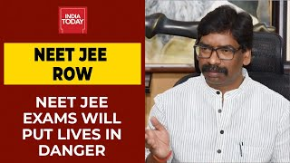 NEET,JEE Exams: Holding Exams During Covid Pandemic Will Put Lives In Danger, Says Hemant Soren  IMAGES, GIF, ANIMATED GIF, WALLPAPER, STICKER FOR WHATSAPP & FACEBOOK