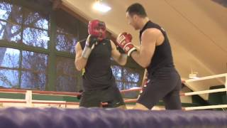EXCLUSIVE WLADIMIR KLITSCHKO SPARRING FOOTAGE (IN CAMP - AUSTRIA) AHEAD OF ANTHONY JOSHUA CLASH