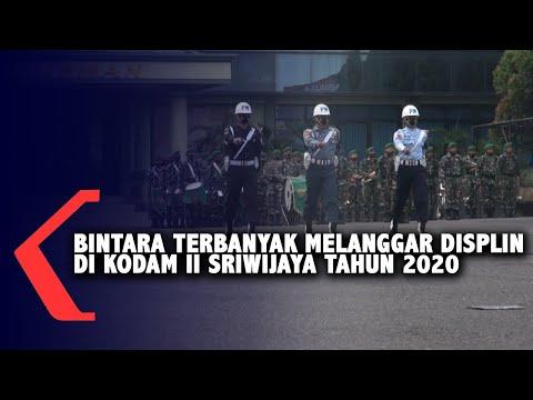 Bintara Terbanyak Melanggar Disiplin Di Kodam II Sriwijaya Tahun 2020