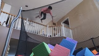 INSANE INDOOR TRAMPOLINE VS FOAM PIT!!