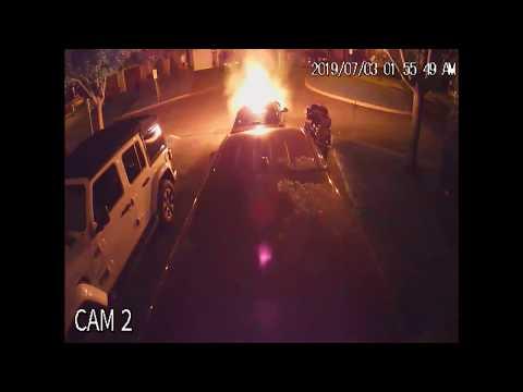 Vehicle arson in Oshawa