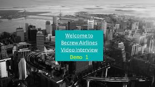 Cabin Crew Video Interview Demonstration Package Vol.1/外資系 客室乗務員ビデオインタビュー練習用動画