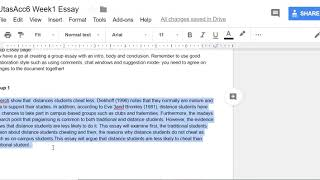How to use a Google Doc for collaborative Writing