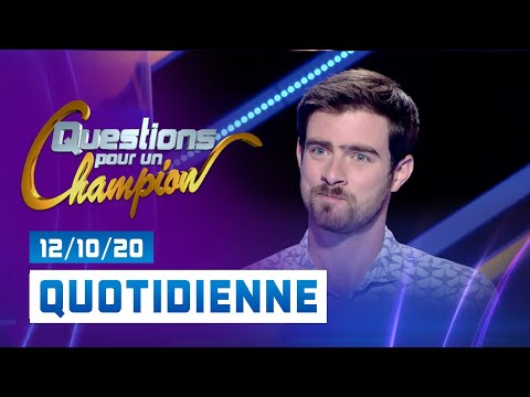 Emission du lundi 12 octobre 2020 - Questions pour un champion