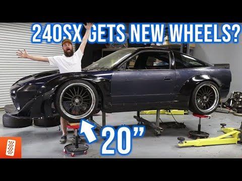 ROCKET BUNNY NISSAN 240SX GETS NEW WHEELS?!