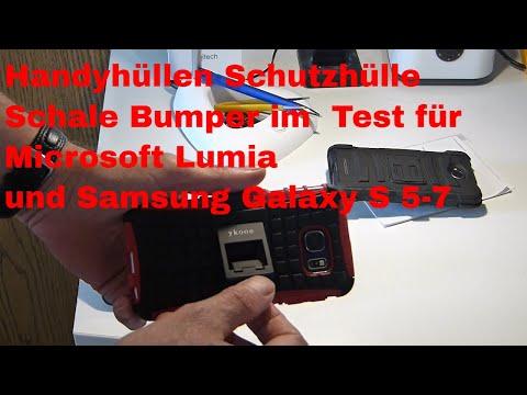 Handyhüllen Schutzhülle Schale Bumper im  Test für Test Microsoft Lumia und Samsung Galaxy S 5-7