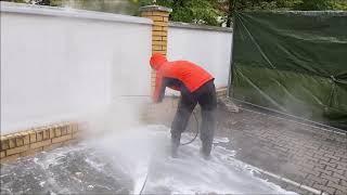 Mycie płotów i ogrodzeń - Olanex