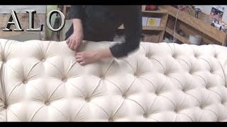 DIY-HOW TO UPHOLSTER YOUR OWN TUFTED HEADBOARD | DIY - ALO Upholstery