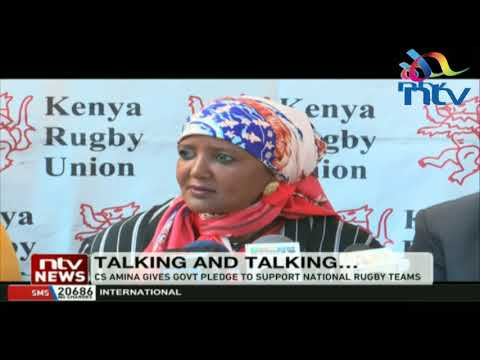 CS Amina gives government pledge to support national rugby teams