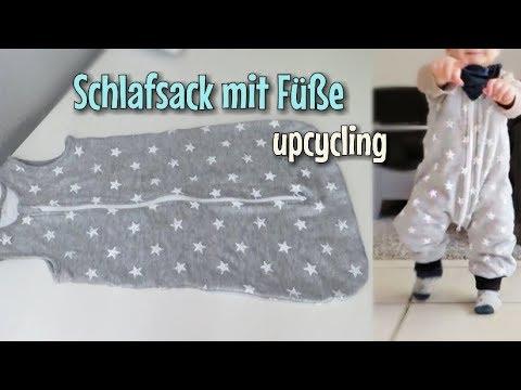 Upcycling - Schlafsack mit Füßen  - Nähanleitung ohne Schnittmuster - Nähtinchen
