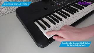 OntaRyon Klavier Sticker. Für Klaviaturen mit 49/61/76/88 Tasten (DE)