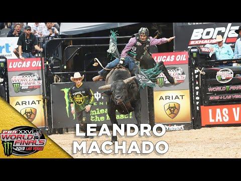 WORLD FINALS: Brazilian Invite Leandro Machado Rides Two of The Rankest Bulls in the World | 2019