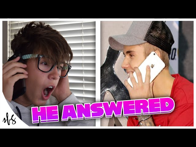 CALLING JUSTIN BIEBER!! (He Actually Picked Up)