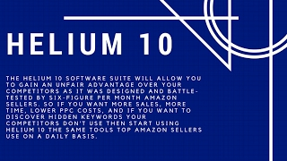 Бизнес на Амазоне в США HELIUM 10 разбираемся как работает и как зарабатывать на Амазон