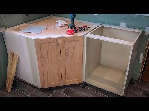 How I made a Kitchen Corner Cabinet | NewAir G73 Review
