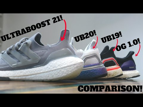 adidas UltraBOOST 21 vs UB20 vs UB19 vs OG 1.0 Comparison Review!