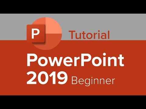 PowerPoint 2019 Beginner Tutorial