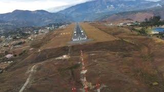 Most Dangerous Landing in Colombia - Approach runway 20