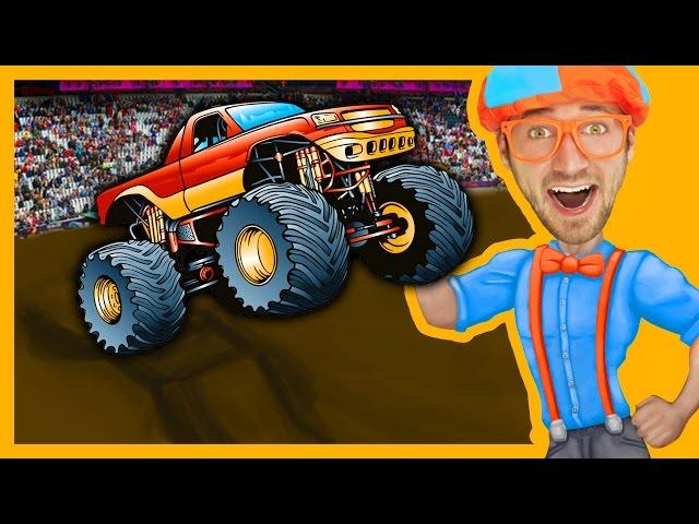 Monster Trucks with Blippi Toys   Monster truck Song for Kids