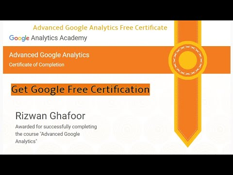 Free Google Analytics Course with Certificate | Advanced Google ...