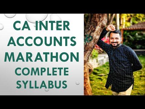 CA Inter Accounts Marathon (Complete Syllabus)