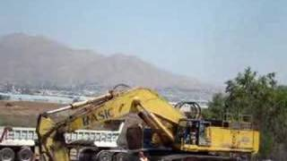 Komatsu PC1000 in action loading trailer