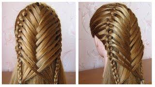 Coiffure pour tous les jours cheveux mi long/long 💗 Coiffure avec tresse 💗 facile à faire