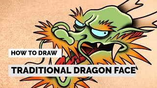 How To Draw A Easy Dragon Head | Tattoo Drawing Tutorial