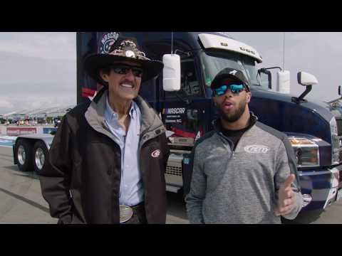 Richard Petty and Bubba Wallace Take First Look at #NASCARSalutes Mack Anthem