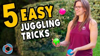 5 Easy JUGGLING TRICKS - Beginner Tutorial