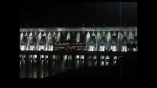 preview picture of video 'Itaipu - Iluminação da Barragem - Foz do Iguaçu-PR'