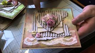 Shabby Chic Rose Cards