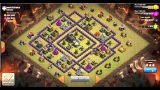 TH9 vs TH9 lava hound level 3 in action | 3 stars | clan wars | clash of clans